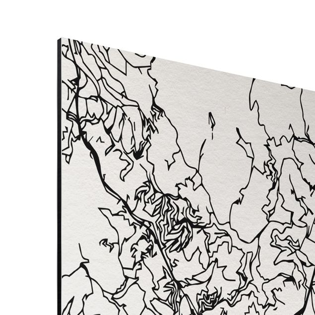 Immagine del prodotto Stampa su alluminio - Barcelona City Map - Classic - Verticale 4:3