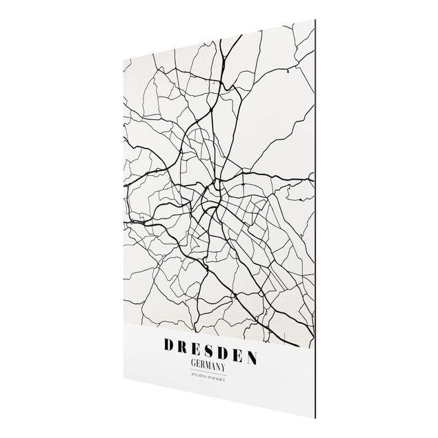 Immagine del prodotto Stampa su alluminio - Dresden City Map - Classical - Verticale 4:3