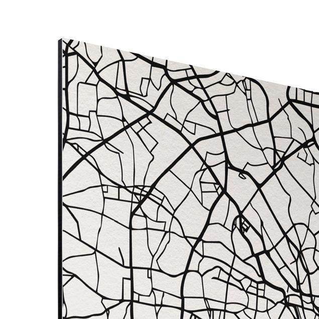 Immagine del prodotto Stampa su alluminio - Tokyo City Map - Classic - Verticale 4:3