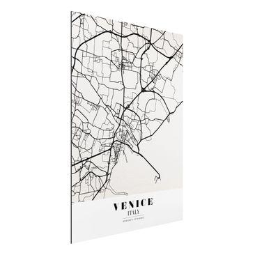 Produktfoto Aluminium Print - Stadtplan Venice - Klassik - Hochformat 4:3