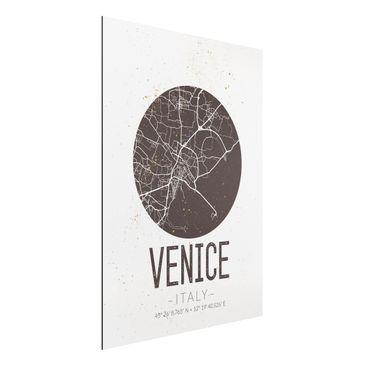 Immagine del prodotto Stampa su alluminio - Venice City Map - Retro - Verticale 4:3