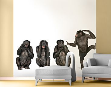 Product picture Photo Wall Mural Clique of Monkeys...
