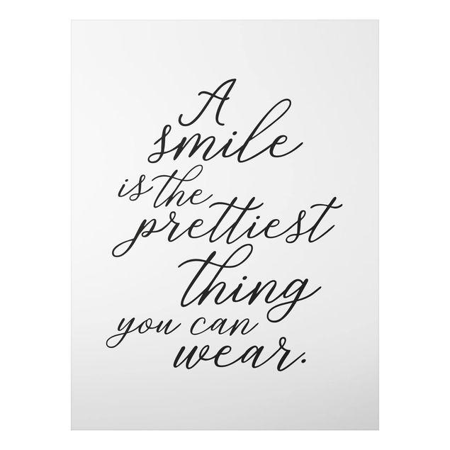 Immagine del prodotto Stampa su alluminio - A Smile Is The Prettiest Thing - Verticale 4:3
