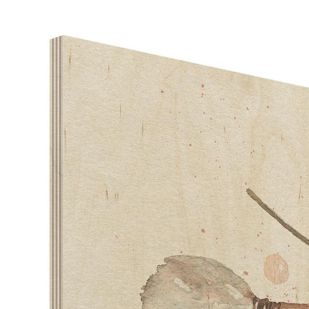 Produktfoto Holzbild -Boho Pfeile und Federn - Aquarell- Hochformat 4:3