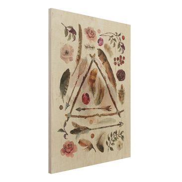 Immagine del prodotto Stampa su legno - Finds - Watercolors- Verticale 4:3