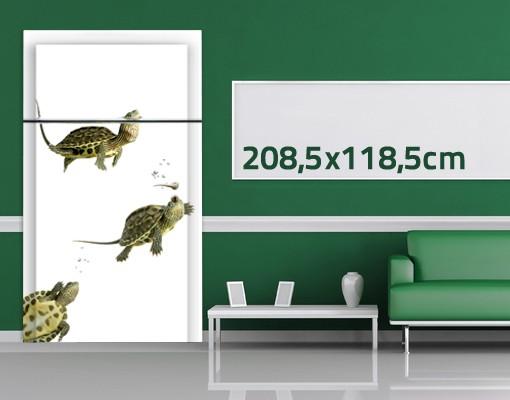 Produktfoto TürTapete Schildkröten Trio