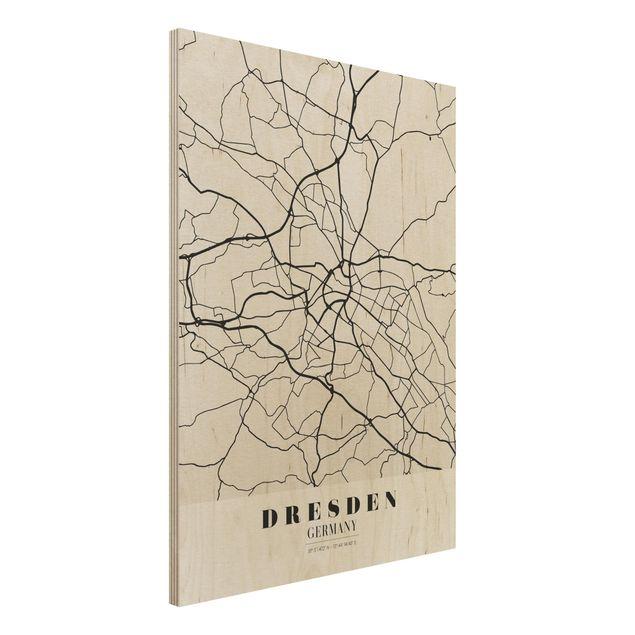Immagine del prodotto Stampa su legno - Dresden City Map - Classical- Verticale 4:3