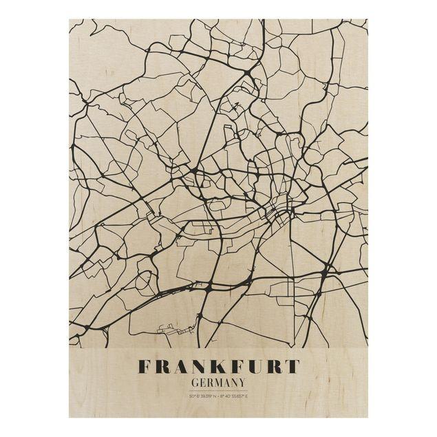 Immagine del prodotto Stampa su legno - Frankfurt City City Map - Classical- Verticale 4:3