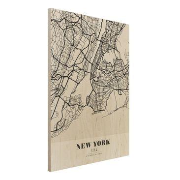 Immagine del prodotto Stampa su legno - New York City Map - Classic- Verticale 4:3