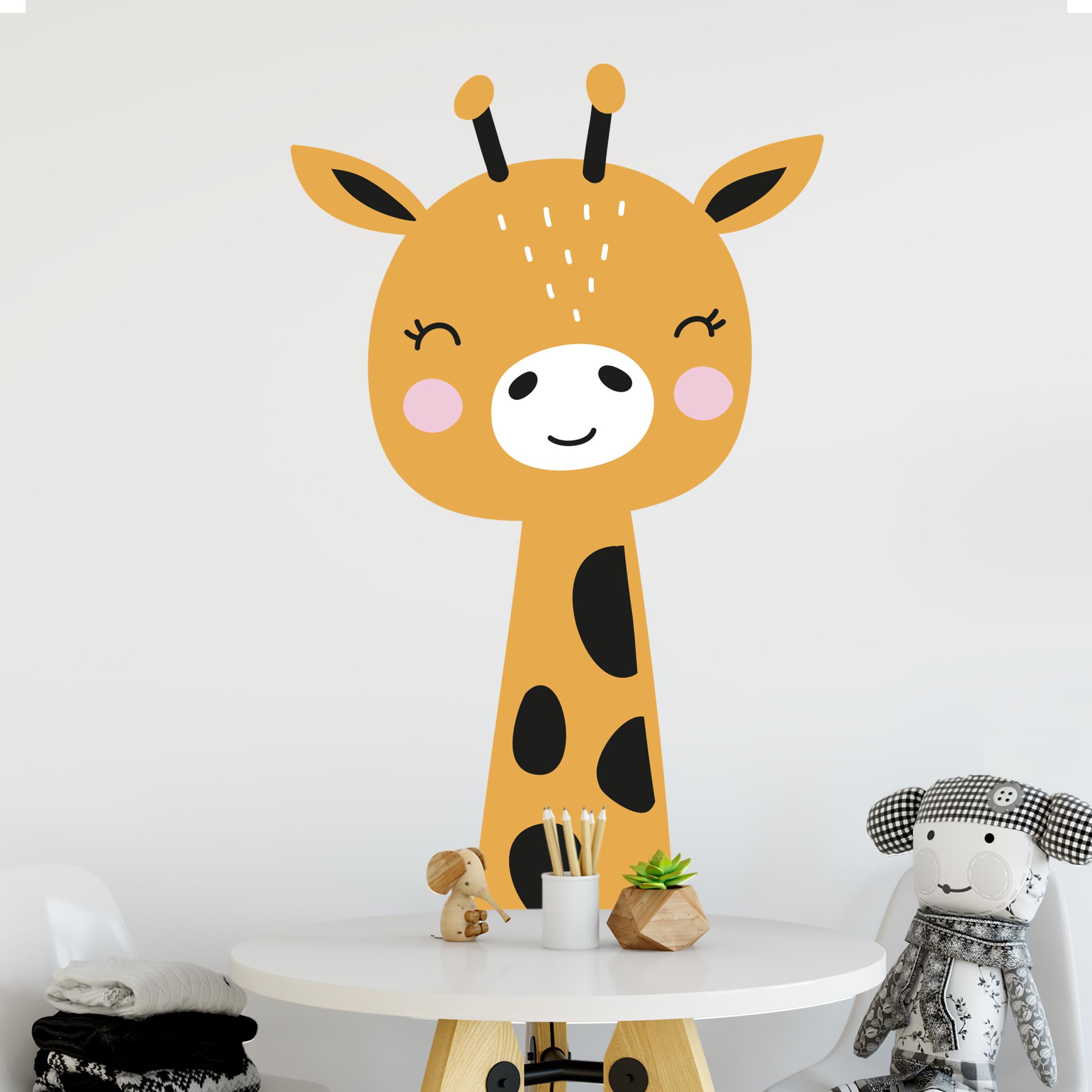 Wandtattoo Kinderzimmer - Baby Giraffe