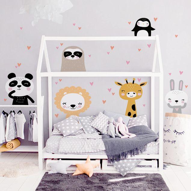 Produktfoto Wandtattoo Kinderzimmer - Safari Tier Set