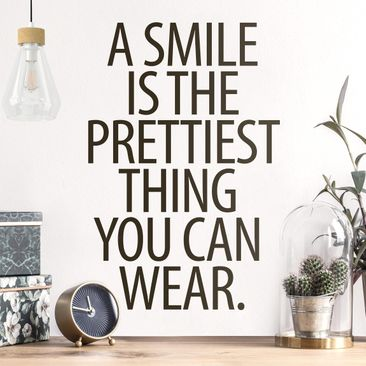 Immagine del prodotto Adesivo murale - A Smile Is The Prettiest Thing Sans Serif