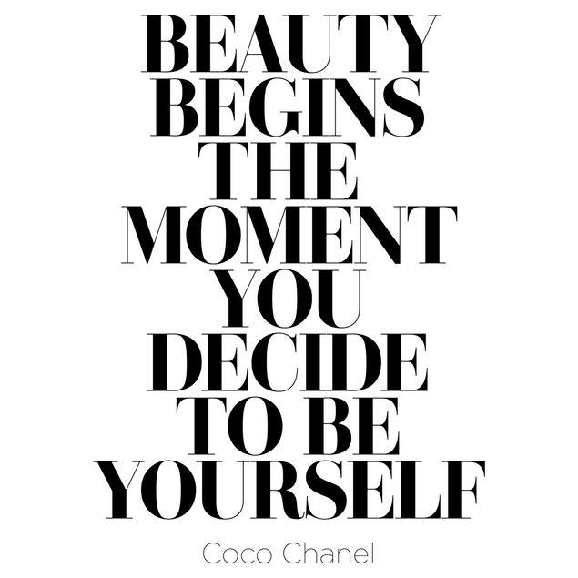 Immagine del prodotto Adesivo murale - Be Yourself Coco Chanel