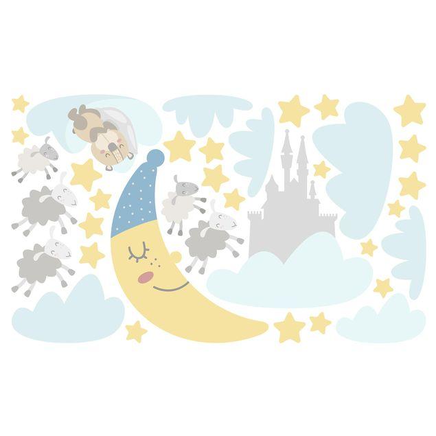 Immagine del prodotto Adesivo murale bambini - Lune e stelline - Stickers camerette