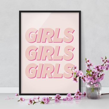 Product picture Framed print - Girls Girls Girls -...