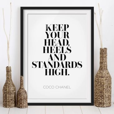 Immagine del prodotto Poster con cornice - Keep Your Head High - Verticale 4:3