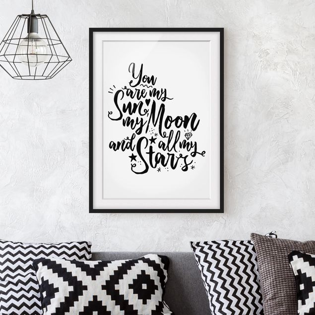 Immagine del prodotto Poster con cornice - You Are My Sun, My Moon And All My Stars - Verticale 4:3