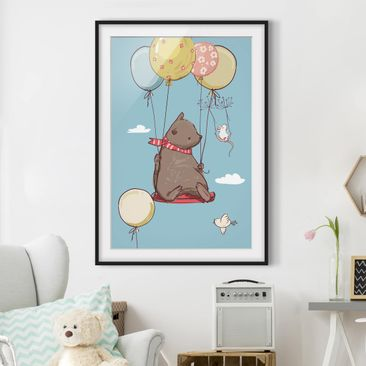 Immagine del prodotto Poster con cornice - Bear And Mouse Flying - Verticale 4:3