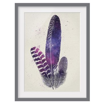 Product picture Framed print - Feathers And Stars -...