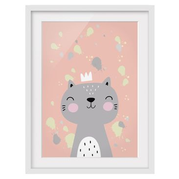 Product picture Framed print - Naughty Cat - Portrait...