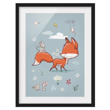 Product picture Framed print - Fox And Mouse On The Move...