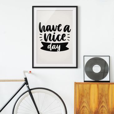 Product picture Framed print - Have A Nice Day -...