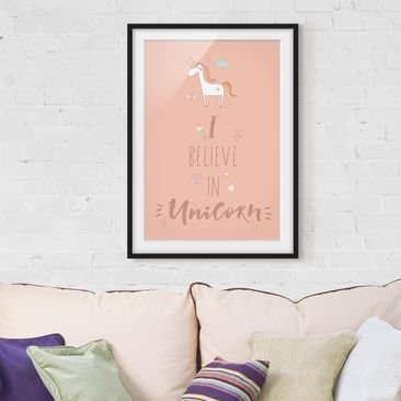 Product picture Framed print - I Believe In Unicorn -...