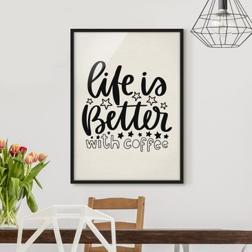 Product picture Framed print - Life Is Better With...