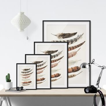 Product picture Framed print - Seven Feathers - Portrait...