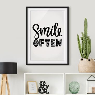 Product picture Framed print - Smile Often - Portrait...