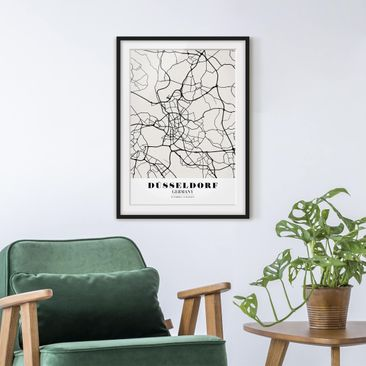 Product picture Framed print - Dusseldorf City Map -...
