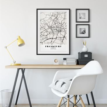 Product picture Framed print - Frankfurt City City Map -...