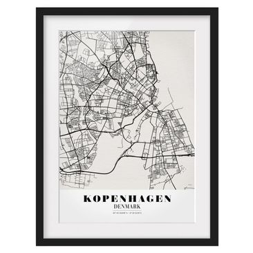 Product picture Framed print - Copenhagen City Map -...