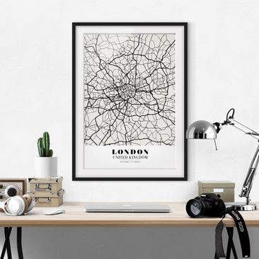Product picture Framed print - London City Map - Classic...