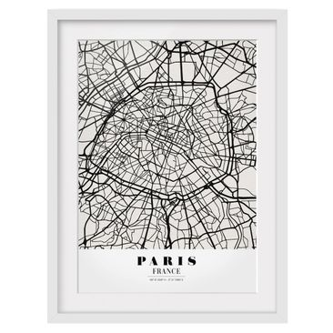 Product picture Framed print - Paris City Map - Classic...