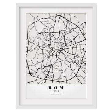 Product picture Framed print - Rome City Map - Classic -...