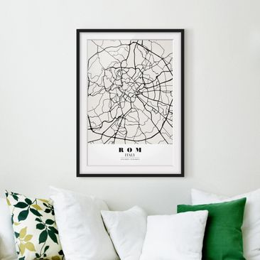 Produktfoto Framed print - Rome City Map - Classic -...