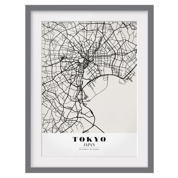 Product picture Framed print - Tokyo City Map - Classic...