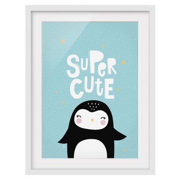Product picture Framed print - Super Cute Penguin -...