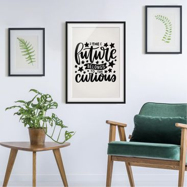 Product picture Framed print - The Future Belongs To The...