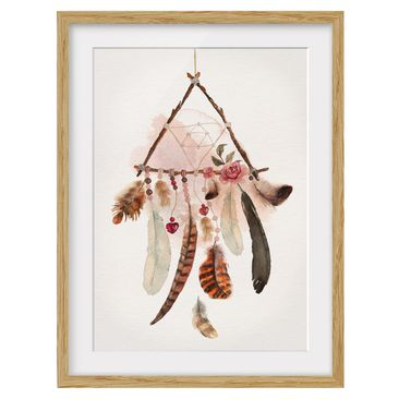 Product picture Framed print - Dreamcatcher Triangle -...