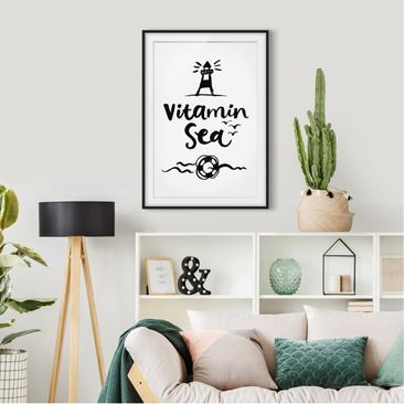 Product picture Framed print - Vitamin Sea - Portrait...