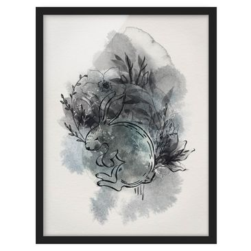 Product picture Framed print - Full Moon Bunny -...