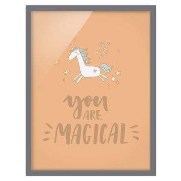 Product picture Framed print - You Are Magical Unicorn -...