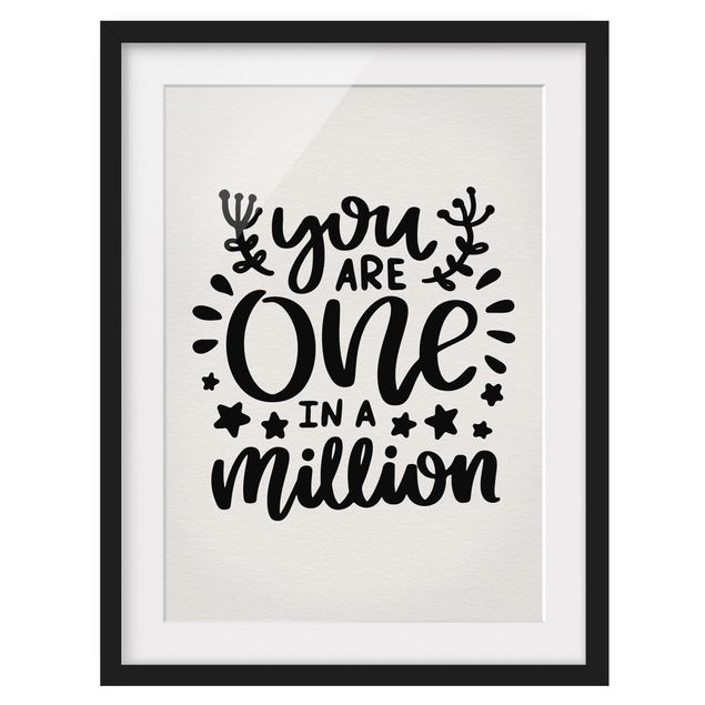Immagine del prodotto Poster con cornice - You Are One In A Million - Verticale 4:3