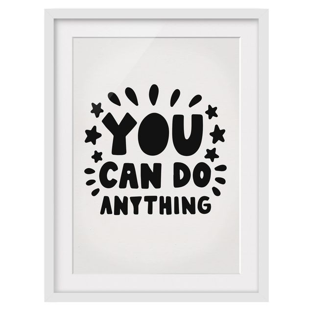 Produktfoto Bild mit Rahmen - You can do anything - Hochformat 4:3