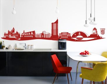 Produktfoto Wall Decal no.AC6 Skyline Leipzig