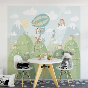 Product picture Photo Wall Mural - Forest With Houses...
