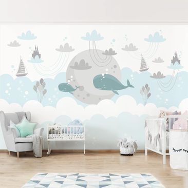 Product picture Photo Wall Mural - Clouds With Whale And...