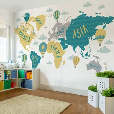 Product picture Photo Wall Mural - World Map With...